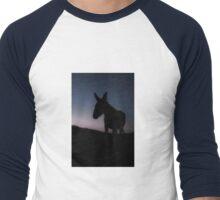 Baby Burro from a Formerly Wild Herd Men's Baseball ¾ T-Shirt