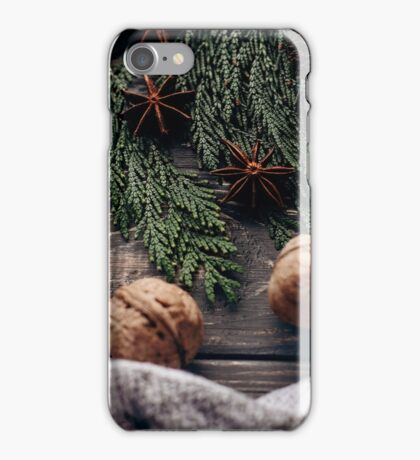 Cozy winter photography Christmas tree present iPhone Case/Skin