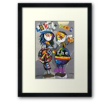 Love and beer Framed Print