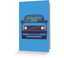 Volvo 240 (Blue) Greeting Card