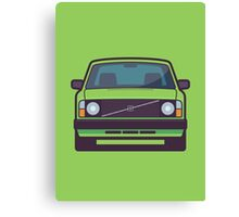 Volvo 240 (Lime) Canvas Print