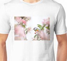 Little bird in beautiful tree worm in mouth Unisex T-Shirt