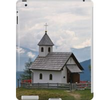 A Chapel in the Alps. iPad Case/Skin