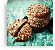 Fresh Baked Cookies with Sesame Canvas Print