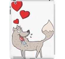 cartoon wolf in love iPad Case/Skin