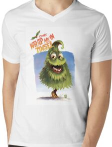 """Christmas Tree - """"Come wrap me in Tinsel"""" Mens V-Neck T-Shirt"""