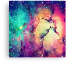 BrIght Colorful Galaxy Canvas Print