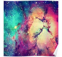 BrIght Colorful Galaxy Poster