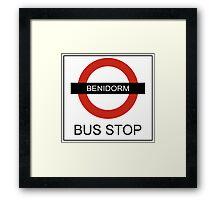 Benidorm Bus Stop Framed Print