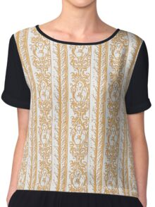 Regal Decor Design Gold Chiffon Top