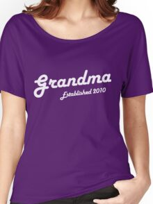 Grandma Established Est 2010 New Baby T-Shirt Women's Relaxed Fit T-Shirt