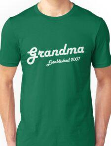 Grandma Established Est 2007 New Baby T-Shirt Unisex T-Shirt