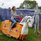On A White Charger........ Colyford Goose Fair by lynn carter