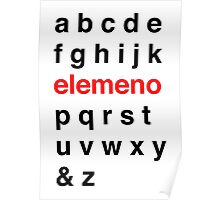 Little Kid Alphabet. Poster