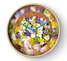 Bridal freesia wedding bouquet Clock