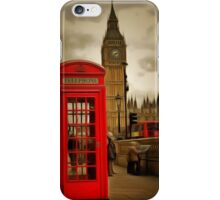 Westminster Phone Box iPhone Case/Skin