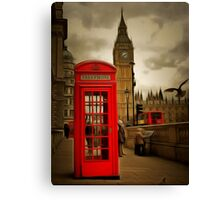 Westminster Phone Box Canvas Print