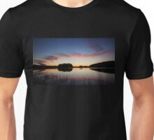 Beautiful clouds and lake landscape after sunset Unisex T-Shirt
