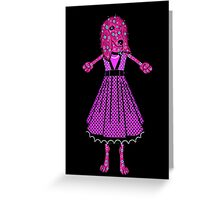 Doodle dogd DEBBIE ready for dancing Greeting Card