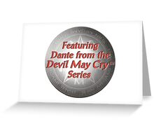 featuring dante from the devil may cry series Greeting Card