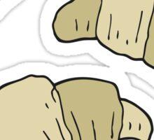 cartoon croissants Sticker