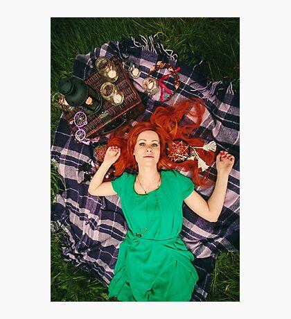 Creative Portrait of Beautiful Redhead Woman Photographic Print