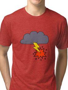 cartoon thundercloud Tri-blend T-Shirt