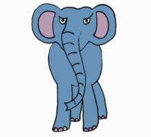 angry elephant Kids Clothes