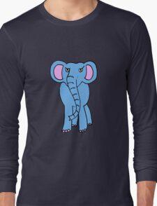 angry elephant Long Sleeve T-Shirt