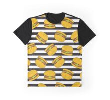 Burger Stripes by Everett Co Graphic T-Shirt
