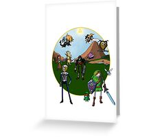 Ocarina of Adventure Time  Greeting Card