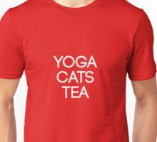 Yoga Cats Tea Cute Yoga & Cat Lover Gift Unisex T-Shirt