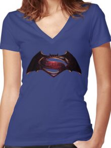 superman Women's Fitted V-Neck T-Shirt