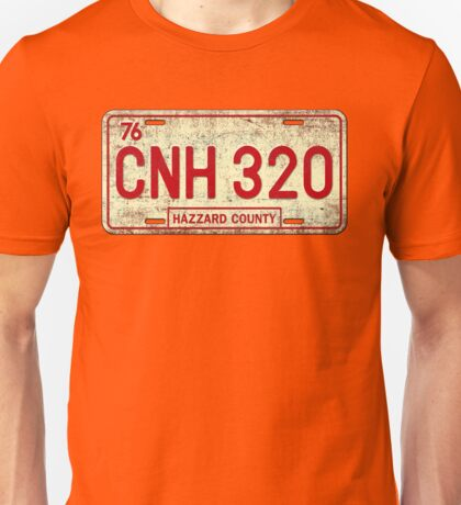 Dukes of Hazzard - General Lee License Plate Unisex T-Shirt
