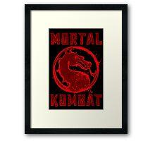 MORTAL  SPLATTER Framed Print