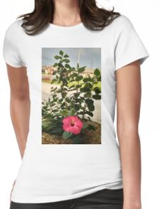 A Flower Amidst Destruction Womens Fitted T-Shirt
