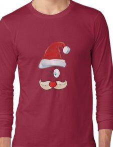 Santa Claus Red Hat Merry Christmas Long Sleeve T-Shirt