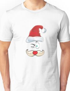 Santa Claus Red Hat Merry Christmas Unisex T-Shirt