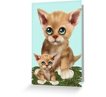 Mama Cat and her Kitten  Greeting Card