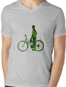 Green Transport - Male Mens V-Neck T-Shirt