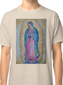 Our Lady of Guadalupe painting, Virgin of Guadalupe picture Virgin Mary print Black Madonna Mexico Classic T-Shirt
