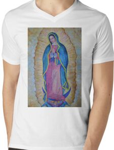 Our Lady of Guadalupe painting, Virgin of Guadalupe picture Virgin Mary print Black Madonna Mexico Mens V-Neck T-Shirt