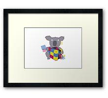 KOALA CUBE Framed Print