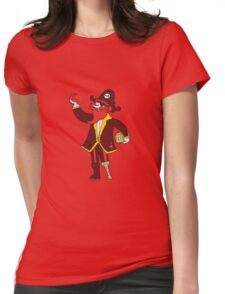 cartoon pirate captain Womens Fitted T-Shirt