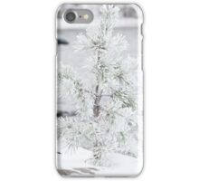 Small tree covered in snow iPhone Case/Skin