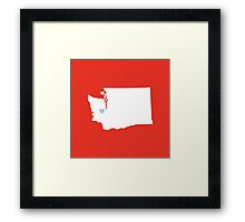 Washington Love Framed Print