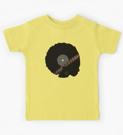 Afro Vinyl Record - African Woman Kids Tee