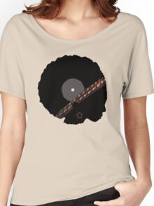Afro Vinyl Record - African Woman Women's Relaxed Fit T-Shirt