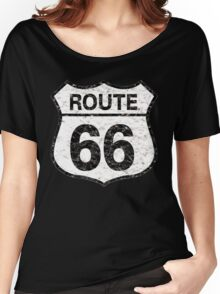 Vintage Route 66 Sign ligh  Women's Relaxed Fit T-Shirt