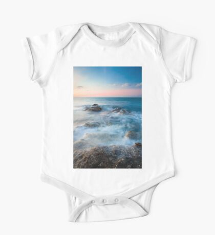 Waves and rocks long exposure One Piece - Short Sleeve